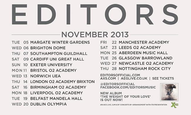 Editors UK Tour
