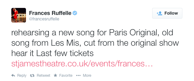 Frances Ruffelle Paris Original
