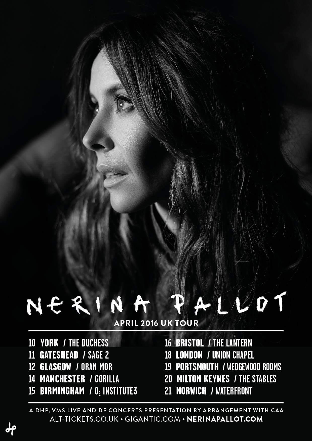 Nerina Pallot Tour 2016