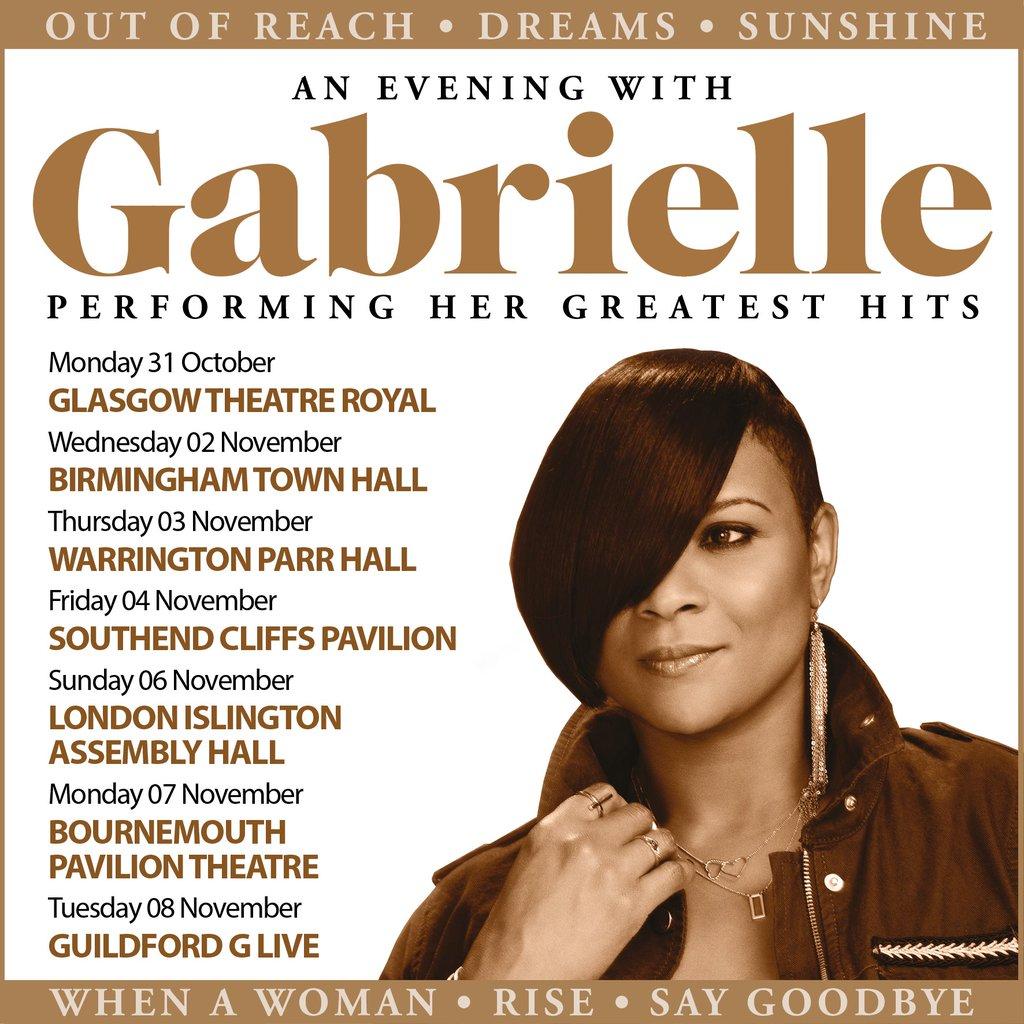Gabrielle UK Tour 2016