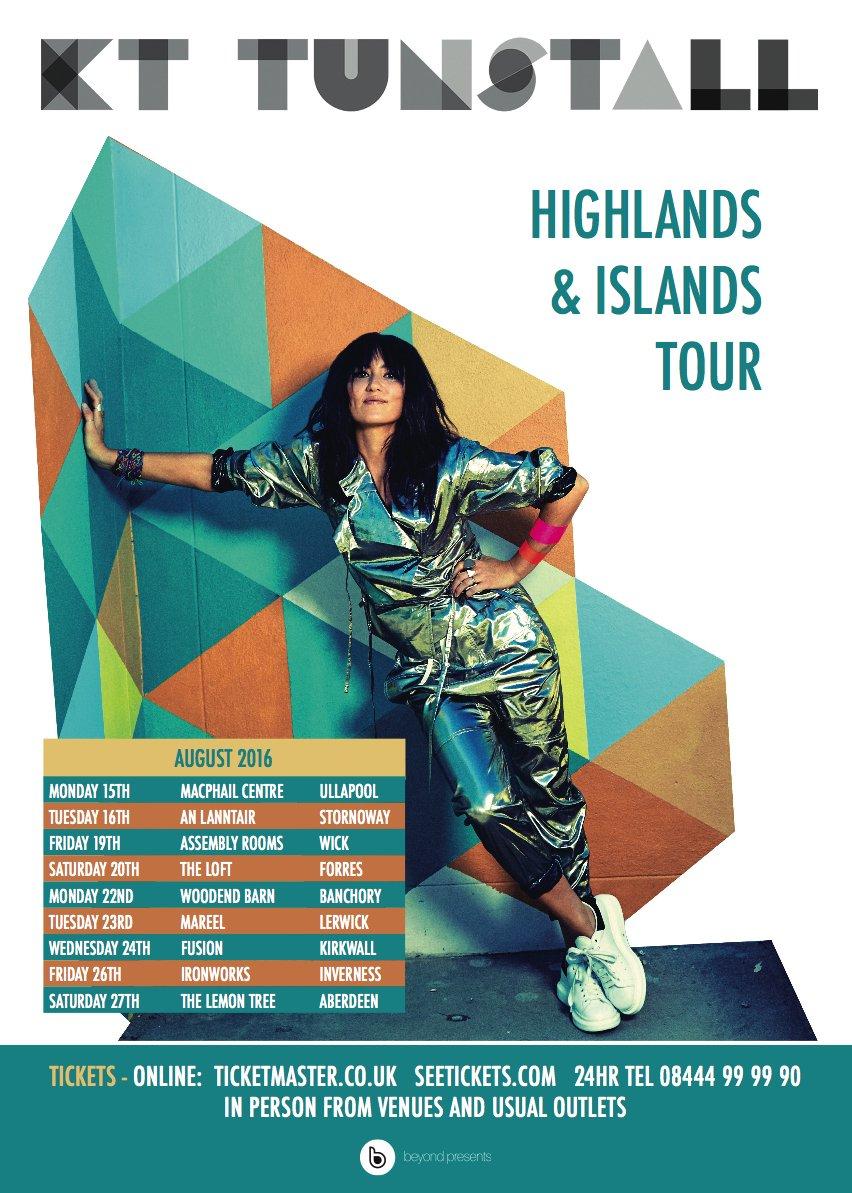 Kt Tunstall Highlands And Islands Tour 2016 Pop Cart